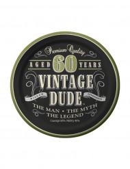 Set van Vintage 60 jaar borden