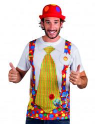 T-shirt van clown voor volwassenen