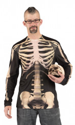 Skeletten t-shirt voor heren Halloween
