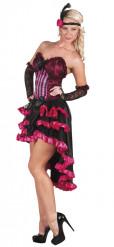 Roze cabaretdanseres kostuum voor dames