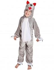 Klein grijze wolf kostuum voor kinderen