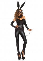 Sexy zwarte konijn kostuum voor vrouwen