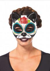 Katten masker Dia de los Muertos