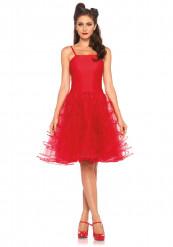 Rode jurk jaren 50 voor vrouwen