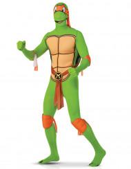 Michelangelo Ninja Turtles ™ Second Skin kostuum volwassenen
