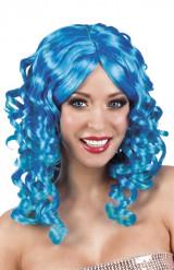Blauw gekrulde pruik voor vrouwen