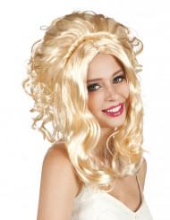 Blonde cowgirl pruik voor vrouwen