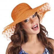 Oranje zomerse hoed voor vrouwen