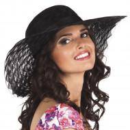 Zwarte zomerse hoed voor vrouwen