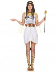 Wit Egyptisch kostuum voor vrouwen
