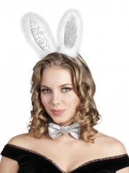 Zilverkleurige konijnen setje voor volwassenen