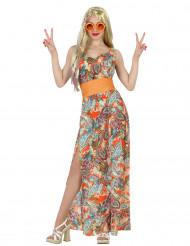 Kleurrijk sixties hippie kostuum voor vrouwen