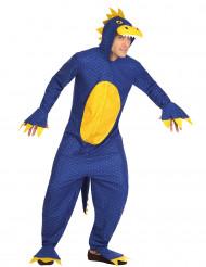 Blauw dinosaurus kostuum voor heren