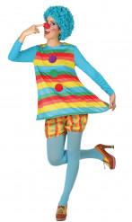Regenboog clown kostuum voor dames