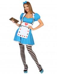 Alice fantasy kostuum voor vrouwen