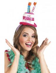 Haarband met verjaardag muts voor volwassenen