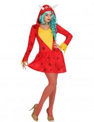 Rood draken kostuum voor vrouwen