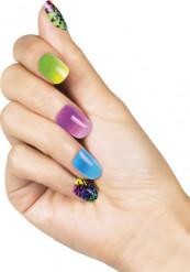 Nep nagels in verschillende kleuren en luipaard print