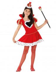 Korte hartenkoningin outfit voor meisjes