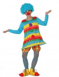 Regenboogkleurig clown kostuum voor meisjes