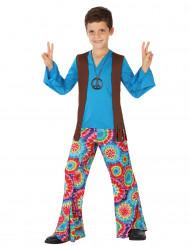 Blauwe Flower Power kostuum voor jongens