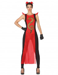 Rode samoerai outfit voor vrouwen