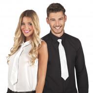 Witte stropdas voor lovertjes voor volwassenen