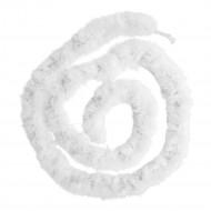 Witte boa slinger