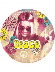 Set van Hippie Flower Power borden