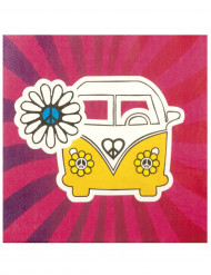 Set van 12 Hippie Flower Power servetten
