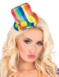 Veelkleurige mini hoedje voor vrouwen