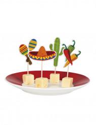Set van Mexicaanse cocktailprikkers