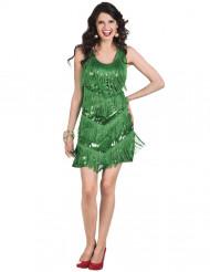 Groene Charleston kostuum voor vrouwen