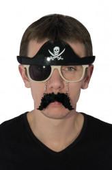 Piraten bril met snor volwassenen