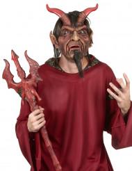 Luxe duivel masker met haren voor volwassenen Halloween