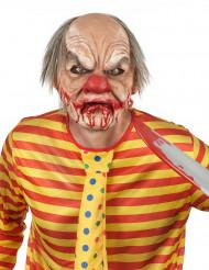 Enge clown masker met haren Halloween