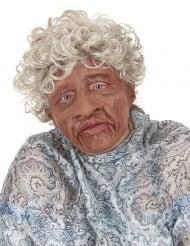 Gedetailleerd latex oma masker voor volwassenen