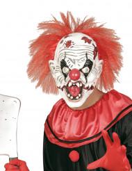 Moordenaar clown masker met haren voor volwassenen