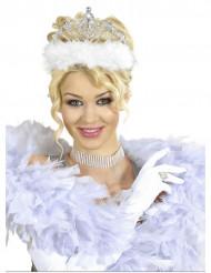 Prinsessendiadeem met wit bont