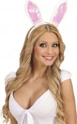 Witte konijn oren voor volwassenen