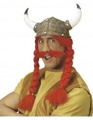 Gallische helm met vlechten en snor voor volwassenen