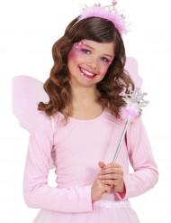 Roze prinsessenstaf en tiara