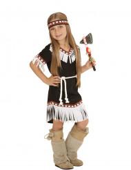 Zwart indianen kostuum voor meisjes