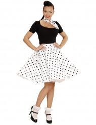 Retro rok en sjaaltje jaren 50 voor dames