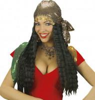 Gipsy pruik met hoofddoekje voor vrouwen