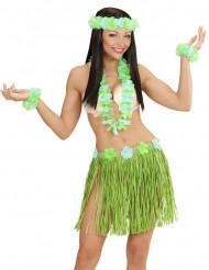 Blauw-groen Hawaii set voor volwassenen