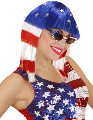 Miss Amerika pruik voor dames