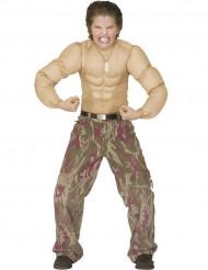 Bodybuilder T-shirt met grote nep spieren voor kinderen
