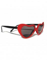 Rode hartjes bril voor vrouwen