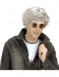 Korte grijze pruik voor volwassenen
